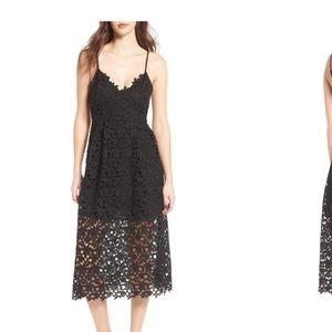 ASTR the Label Black lace midi dress Medium NWT S